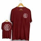 Review Toko Brother Store Kaos Distro Anti Social Social Club Circel Front Back Big White Maroon Premium