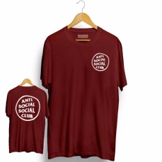 Dimana Beli Brother Store Kaos Distro Anti Social Social Club Circel Front Back Big White Maroon Premium Brother Store