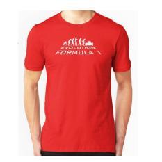 Brother Store Kaos Distro Evolution Formula 1 White - Red Premium