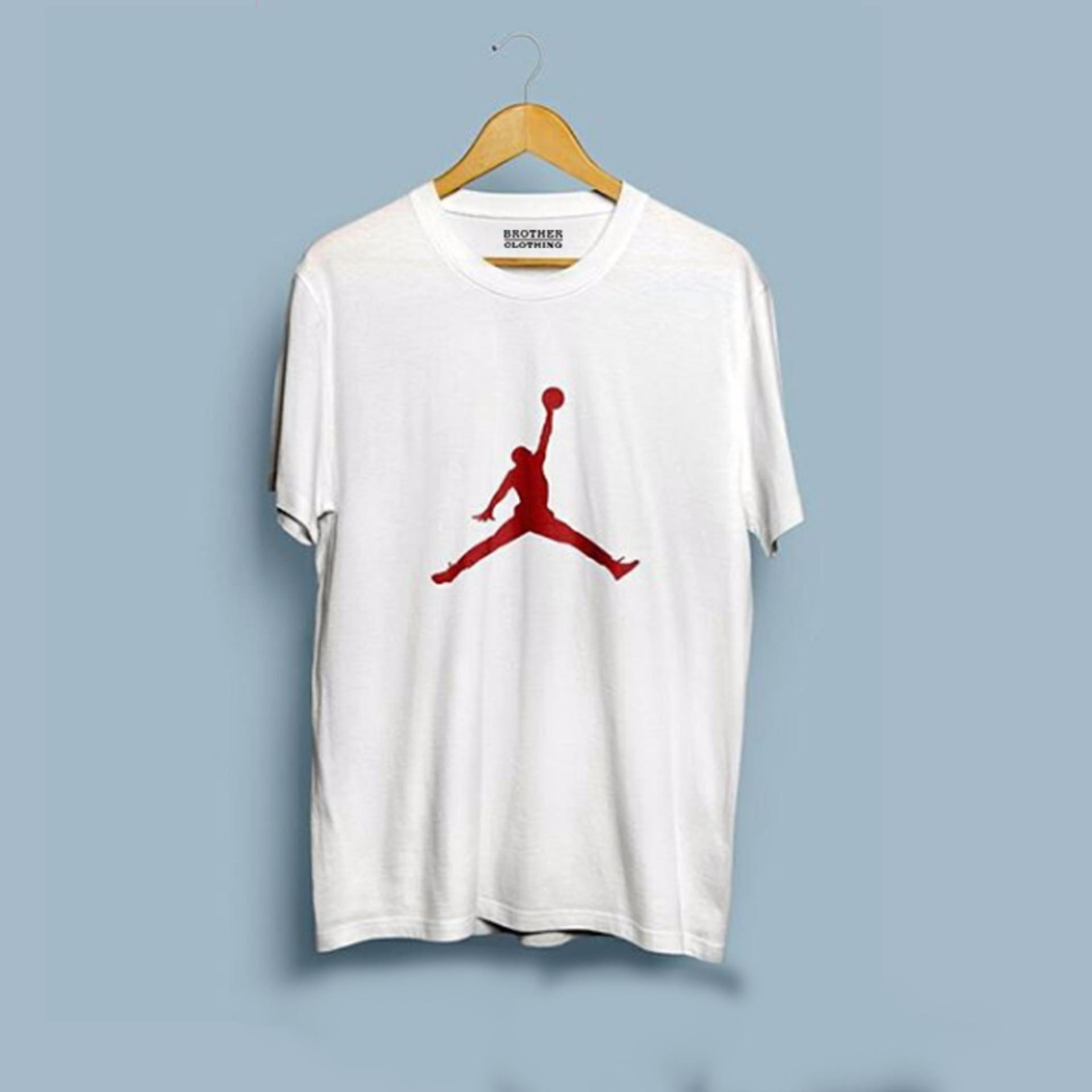 Cocok untuk pria maupun wanita Brother Store Kaos Distro logo Air Jordan  RED-White Premium 86dfb8dc05