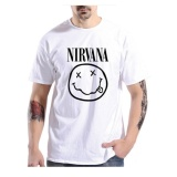 Jual Brother Store Kaos Distro Pria T Shirt Nirvana Black White Brother Store Grosir