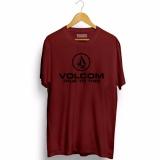 Spesifikasi Brother Store Kaos Volcom Logo Black Maroon Premium Lengkap Dengan Harga