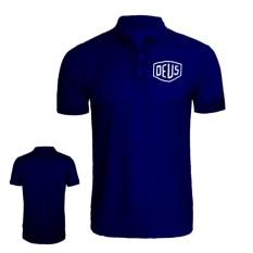 Brother Store Polo Shirt Logo Deus USA White Premium