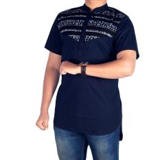 bsg_Fashion1 Kemeja Polos Navy Long Line/ Kemeja Young Lex/Kemeja Coco/Kemeja Muslim/Baju Coco/Kemeja Flanel/Flanel Woll/Kemja Men/Kemeja Casual/Kemeja Distro/Kemeja Pantai/Kemeja Formal/Kemeja Pria/Kemeja Polos/Kemeja Batik PN 5392 Navy