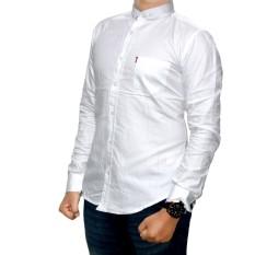 bsg_fashion1 kemeja polos pria/ kemeja pria lengan panjang Marun/baju kemeja pria/kemeja slimfit/kemeja pria/kemeja pria polos/kemeja lengan panjang/kemeja flanel PX 4748 Putih