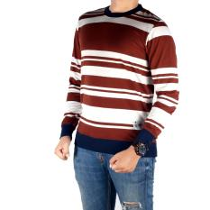 Bsg_fashion1 sweater pria rajut/ sweater polos oblong/sweater rajut pria/sweater pria/sweater polos pria/kaos polos lengan panjang/sweatter ariel noah/sweater rajut polos GX 5196 Coklat
