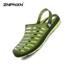 BSI Mens Sepatu Musim Panas Pecinta Jelly Sepatu Lubang Shoes Beachshoes Sandal Sandal Pengait Sepatu Pria Kasual Zapatos Hombre Size39-45 Yards (Hijau Tentara) -Intl