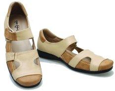 Ongkos Kirim Bsm Soga Bda 028 Sepatu Flat Shoes Wanita Syntetic Elegan Krem Kombinasi Di Jawa Barat