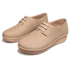 Bsm Soga Bda 803 Sepatu Fashion  Boot Wanita - Bahan Synth - Cantik Dan Menarik(Krem)