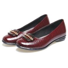 Beli Bsm Soga Bds 023 Sepatu Formal Wanita Bahan Kulit Cantik Dan Menarik Marun Online Murah