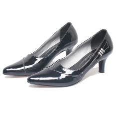 Bsm Soga Bkd 315 Sepatu Formal Wanita - Bahan Kulit - Cantik Dan Menarik(Hitam