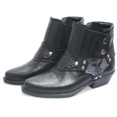 Bsm Soga Bnn 284 Sepatu Boots Pria - Bahan Kulit - Gagah Dan Keren(Hitam)