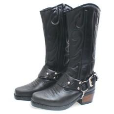 Bsm Soga Bnn 288 Sepatu Boots Pria - Bahan Kulit - Gagah Dan Keren(Hitam)