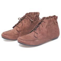 Bsm Soga Brb 909 Sepatu Fashion  Boot  Wanita - Bahan Synth - Cantik Dan Menarik(Coklat)