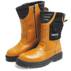 Bsm Soga Bsm 307 Sepatu Boots/Safety Pria - Bahan Kulit - Gagah Dan Keren(Tan)