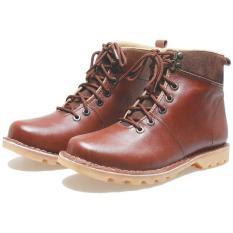 Bsm Soga Bsm 403 Sepatu Boots Pria - Bahan Kulit - Gagah Dan Keren(Coklat)