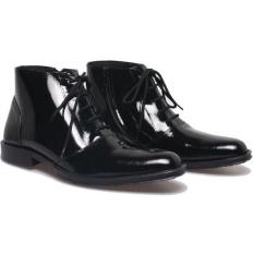Beli Bsm Soga Sepatu Formal Pantofel Boots Kulit Asli Pdh Pdl Mengkilap Kerja Kantor Premium Pria Bfh149 Hitam Secara Angsuran