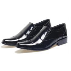 Cuci Gudang Bsm Soga Sepatu Formal Pantofel Kantor Kerja Kulit Asli Pria Elegan Bfh357 Hitam