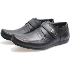 BSM SOGA Sepatu Formal Pantofel Kantor Kerja Pria Kulit Asli Elegant BSM485 - Hitam