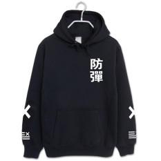 Toko Sweater Pria Bertopi Longgar Bersablon Hitam Bagian Tebal Termurah Di Tiongkok