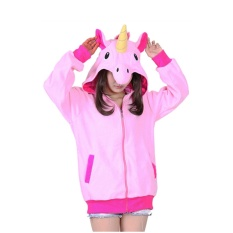 BTS Wanita Pakaian Pullover Fashion Kartun Unicorn Sweatshirts Tracksuits Hoodies Girl Boy Winter Cute Jaket Bomber-Intl