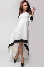 Spesifikasi Buenos Ninos Wanita Night Party The Elegan Hem Tidak Teratur Longgar Hitam Putih Gaun Perca Baru