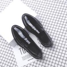 Bullock Inggris Rumbai Set Kaki Permukaan Terang Sepatu Kulit Kacang Sepatu Trendi (9202 Permukaan Halus Sepatu Golden Goose)