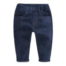 Bulu Halus Ramping Celana Pensil Anak Laki-laki Jeans (Pinggang Pelabelan Bulu Halus Jeans)
