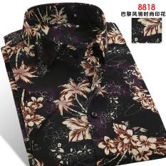 Toko Bunga Buah Musim Panas Laki Laki Lengan Pendek Dicetak Kemeja 8818 Baju Atasan Kaos Pria Kemeja Pria Yang Bisa Kredit