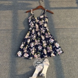 Toko Bunga Kecil Bening Musim Panas Terlihat Langsing Rok Bunga Sakura Berwarna Merah Muda Baju Wanita Dress Wanita Gaun Wanita Oem