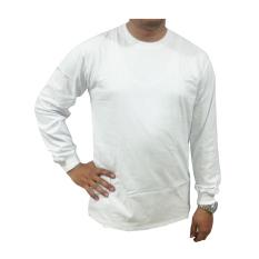 Bursa Kaos Polos - Kaos Polos Big Size Lengan Panjang - 3L - Putih