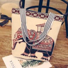 Burung Hantu Korea Fashion Style Bahu Kapasitas Besar Jinjing Tas Besar Kasual Tas Belanja (Thailand Aristokrasi Gajah)
