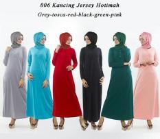 Busana baju muslim wanita gamis polos terbaik