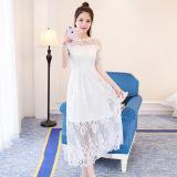 Promo Busana Hitam Dan Putih Wanita Elegan Bagian Panjang Rok Gaun Putih Di Tiongkok