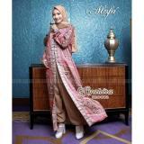 Busana Muslim Alofa Syahira Mocca All Size Indonesia