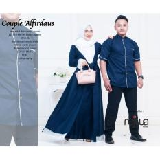 Busana Muslim Couple Alfirdaus - Baju Pasangan Gamis Sarimbit