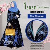 Toko Busana Muslim Elegan Wanita Gamis Rayon Bali Motif Indah Nnm Maxi Dress Seri Hitam Warna Biru Di Indonesia
