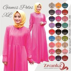 Busana Muslim Gamis Polos Jersey Size XXL Premium Quality