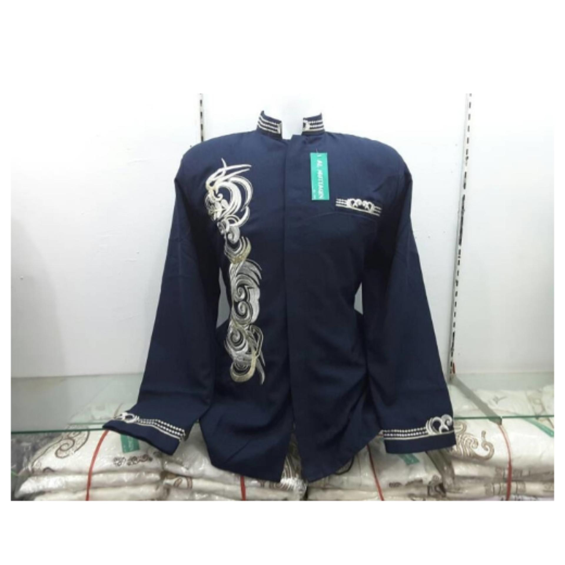 Gudang Fashion - Kemeja Korea Slimfit Panjang - Hijau Lumut. Source · XXL : Ready Busana Muslim Pria Baju Koko Pria Baju Jasko Jas Koko Biru Terbaru