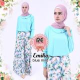 Beli Busana Muslim Re Moda Emiko Set Blue All Size Murah Indonesia