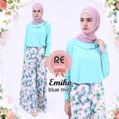 Harga Busana Muslim Re Moda Emiko Set Blue All Size Yang Murah
