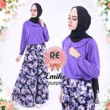 Jual Beli Busana Muslim Re Moda Emiko Set Purple All Size Di Indonesia