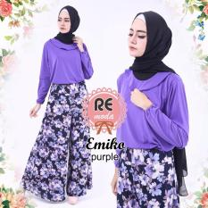 Toko Busana Muslim Re Moda Emiko Set Purple All Size Termurah Indonesia