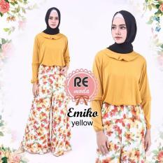 Spesifikasi Busana Muslim Re Moda Emiko Set Yellow All Size Yang Bagus Dan Murah