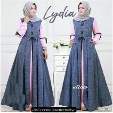 Busana muslim wanita drees fashion mustika