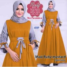 Busana Muslim/Maxi Dress/Longdres/Maxi Ruby/Maxi Suby