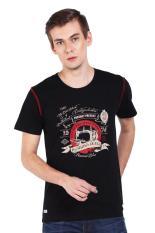 Bushido Jeans Bd17Ts002Vc Tshirt Print Black Pakaian Atasan Pria T-Shirt