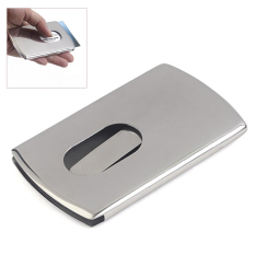 Harga Hemat Business Card Holder Stainless Steel Pocket Id Credit Card Holder Case Men