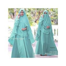Butik Aisyah Dress Gaun Gamis Syari Az Zahra dengan Cadar Bahan Premium Wolfice