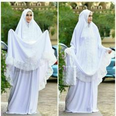 Spesifikasi Butik Aisyah Mukena Wanita Putih Bahan Campuran Katun Dan Rubiah Lengkap Dengan Harga